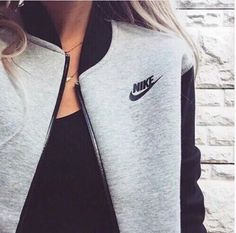 jacket nike grey and black nike jackett grey Mens New Years Eve Outfit Look Fashion, Teen Fashion, Runway Fashion, Womens Fashion, Fashion Trends, Fashion Shoes, Nike Fashion, Fashion Ideas, Fashion Outfits