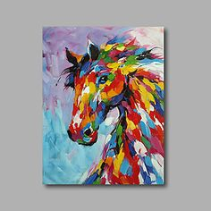 Hand Painted Horse Painting On Canvas Impressionist Multi Colored Fine Art What Brilliant Colors Original Colorful Horse Oil Painting Hand Painted Multi Colored Horse Painting On Canvas In Impressionist Style Horse Canvas Painting, Painting & Drawing, Daisy Painting, Painting Walls, Knife Painting, Arte Pop, Painting Gallery, Horse Art, Animal Paintings
