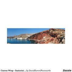 Canvas Wrap - Santorini Red Beach - Greece  #santorini #greece #greekislands #island #beach #volcanic #panorama #mediterranean