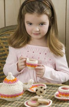 Tea and Cookies Party Set Crochet Pattern @Misty Haver...Ok so you really need to learn to crochet girl 'cause these so look like Aubrey needs them!