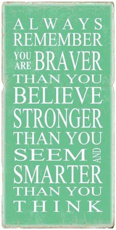 {bit of wisdom: always remember...}