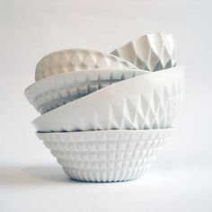 Verena Stella geometric porcelain bowls #home #serving #design