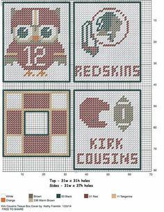 Raiders made pattern Plastic Canvas Coasters, Plastic Canvas Ornaments, Plastic Canvas Tissue Boxes, Plastic Canvas Crafts, Plastic Sheets, Plastic Canvas Patterns, Football Crafts, Football Stuff, Pat Football