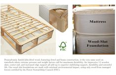 Wood Slat Foundations - for use with a metal bed frame -600 for full, 5 inches