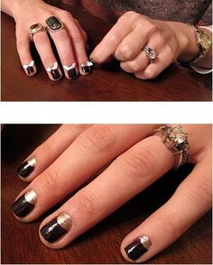 Use paper hole reinforcements to give yourself a half-moon nail manicure.