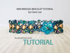 Mini Bridges Bracelet and Bridges Bracelet, Tutorials by Claire Lee, Silky Bead & SuperDuo Bracelet Tutorial, Bridges and Mini Bridges by SupplyEmporium on Etsy https://www.etsy.com/listing/549611906/mini-bridges-bracelet-and-bridges