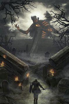 Dark Souls 3, Arte Dark Souls, Dark Fantasy Art, Fantasy Artwork, Fantasy World, Dark Art, Fantasy Creatures, Mythical Creatures, Illustration Fantasy