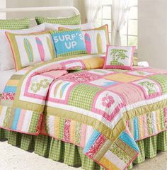 Surf's Up Tropic by C & F Luxury Quilts at Bedding Super Store.com