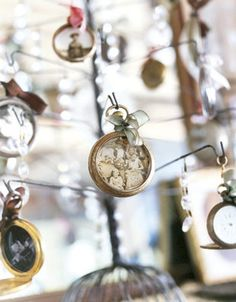 Great Idea...Ornaments made from Old Pocket Watches