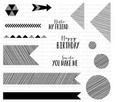 Sketched Shapes Stamp Set: Papertreyink, also has dies