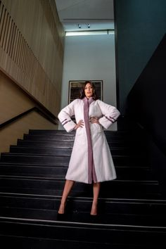 Explore the latest SARIGIANNI collection of real fur coats and bags. Modern & elegant mink coats, shearling jackets, fur-trimmed cashmere coats and more. Shearling Jacket, Fur Coat, Cashmere Coat, Fur Fashion, Innovation Design, Duster Coat, That Look, Collections, Poses