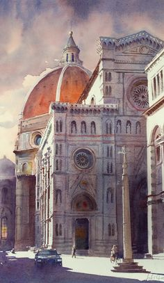 Andy Shore WATERCOLOR Florence Duomo
