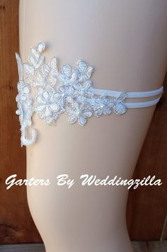 Shire Wedding Garter Set Ivory Lace Bridal Victorian Garters And