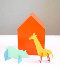 DIY Paint Chip Animal Friends by handmadecharlotte     DIY