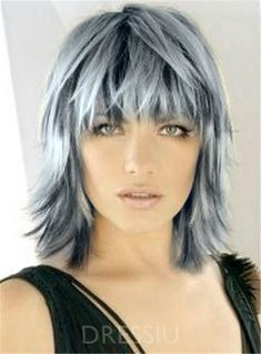 Hairstyles Over 50, Funky Hairstyles, Grey Hair Wig, Grey Ombre, Pixie Cut, Cut And Color, Hair Jewelry, Bobs, New Hair