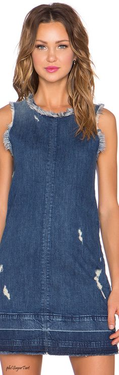 I just purchased this clean-lined denim dress and can't wait to wear it!!