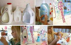 DIY Petites maisons en recyclant des bidons.