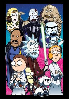 Here's our latest mash-up, Rick & Morty meets Star Wars! Use the FUUUOoorrce Morty - Collab w/ Mike Vasquez Cartoon Cartoon, Rick And Morty Crossover, Ricky Y Morty, Rick Und Morty, Rick And Morty Poster, Adult Cartoons, Anime, Geek Culture, Geek Stuff