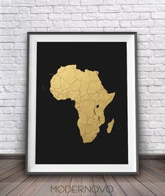 Africa continent map black and white map art print world map art africa map art minimalist poster african art prints african gumiabroncs Image collections