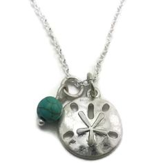 Mama Designs Sterling Silver Handmade Sand Dollar Necklace
