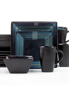 Oneida Dinnerware, Adriatic 16 Piece Set - Casual Dinnerware - Dining & Entertaining - Macy's