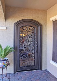 Plasma Cut Naples Iron Entry Doors #Firstimpression