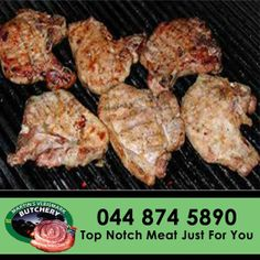 Looking for that perfect porkchop? Come down to Martin's Vleismark for the best quality meat. #pork #chops #butchery