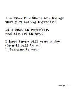 me belonging to you