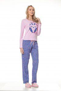 01f5082934 Pijama Longo Feminino Adulto 100% Algodão - Tal Mãe Tal Filha