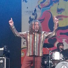 Robert Plant performing last night at Bergenfest in Norway