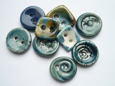 I've got the Blues Too Ceramic Buttons by buttonalia on Etsy, $18.00