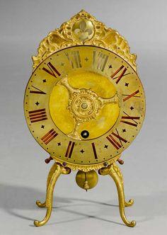 Night clock Louis XV, ca 1740 . #antiques #antiquerestoration #antiqueconservation