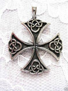 Pewter Celtic quasi-Maltese Cross (Cross Pattée) Pendant