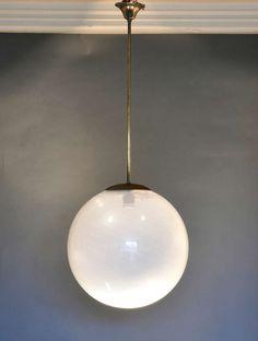 Carlo Scarpa for Venini Hanging Lamp Circa 1940