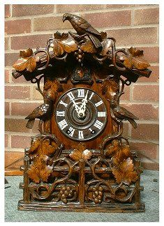 REF: Cuckoo Clock. It might be nice if the clock filigree could integrate some of the animals from the story – a rabbit, a walrus, a dormouse, etc.