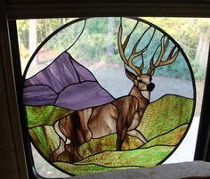 Whitetail Deer - Delphi Stained Glass