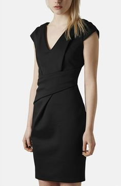 Topshop V-Neck Sheath Dress available at #Nordstrom