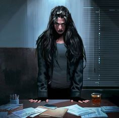 Carmen LeStrange - works for Prentiss. Character Portraits, Character Art, Female Character Concept, Fantasy Characters, Female Characters, Vampire Masquerade, World Of Darkness, Cyberpunk Art, Shadowrun