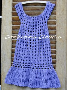 Crocheteria   Claudia: Saída de praia para menina