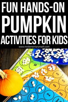 Free pumpkin math ideas and activities for kindergarten through 3rd grade students. Kids estimate, count, and graph pumpkin seeds using these the Pumpkin Investigations free printables. #pumpkinmath #pumpkinactivities #freepumpkinactivity