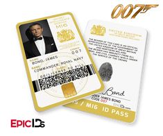 James Bond Inspired (Daniel Craig) Secret Intelligence Service ID