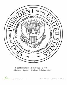 presidential seal coloring page