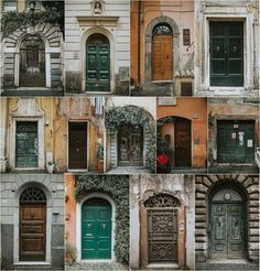 Trastevere (Rome, Italy). All these door are from houses in one of the most beautiful and bohemian areas in Rome. If you want to see more photos, please visit my IG. @darkmaito