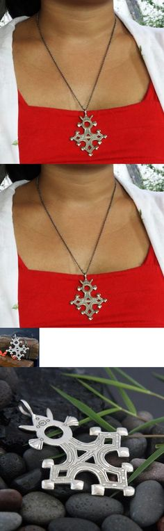 Necklaces and Pendants 98481: Handmade Agadez Tuareg Cross Pendant Necklace (Indonesia) -> BUY IT NOW ONLY: $32.44 on eBay!