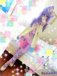 Pre-order Saturn's Wish Tights fairy kei, pop kei, lolita, pastel, printed tights, kawaii, rainbow, shooting star, space, planet, moon. $25.00, via Etsy.
