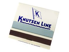 #KnutsenLine Freight Liner Passenger #Ship #Matchbook Advertising Front Strike Matchcover 30 Matches Strike on Front by CollectionSelection on Etsy
