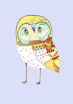 Cheeky Owl. Limited edition art print by Ashley by AshleyPercival, $40.00