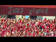 The Badgers jump around!  Gets me pumped for Badger football!