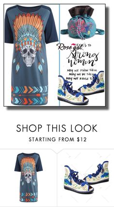 """""""T-Shirt Dress Rosegal III/80"""" by dzemila-c ❤ liked on Polyvore"""