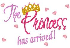 Princess Arrived - 3 Sizes! | Princess | Machine Embroidery Designs | SWAKembroidery.com Band to Bow